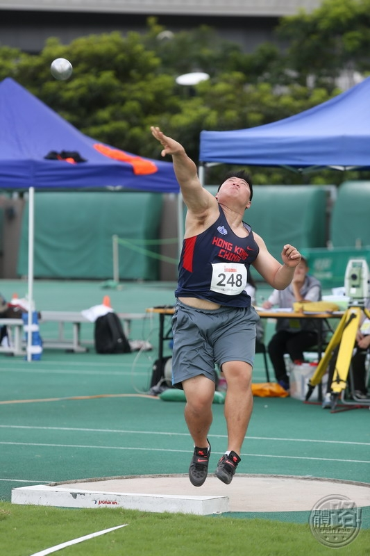 Men's Senior Shot Put 1st runner-up LAM Wai