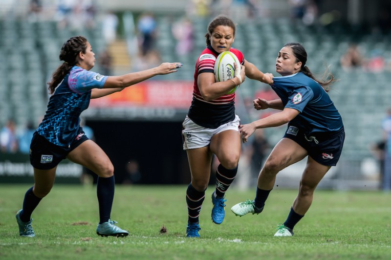 2015 Asia Rugby Sevens Qualifier Day 2 - Women's Pool Games at Hong Kong Stadium on 8 Nov. 2015